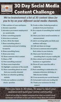 Take a social Media Challenge