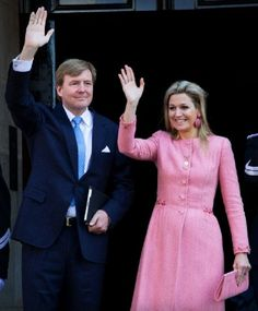 Dutch King Willem-Alexander and Queen Maxima leave the Royal Palace the day after the investiture ceremony of the new Dutch King in Amsterdam