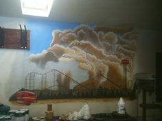 Wall Mural designed and painted by Fire Camp Inmates - PDC-East Facility