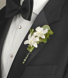 Orchid buttonhole