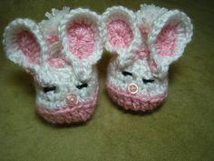 crochet baby pattern baby bunny slipper bootie by EasyPeasyGrandma, $3.95
