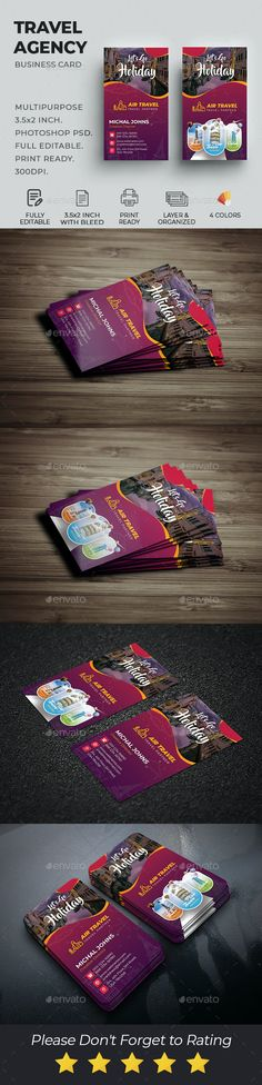 Travel Agency Business Card by DesignsLab | GraphicRiver