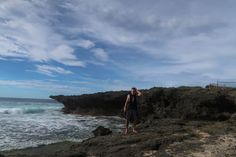 Me at the Patar Rock Formation in Bolinao, Pangasinan province, Philippines.