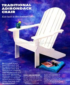 Traditional Adirondack Chair Plans - Outdoor Furniture Plans