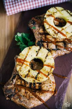cup of soy-free coconut aminos will add a spectacular and unexpected burst of flavor to pineapple sweetened pork chops, Hawaiian style, of course. Healthy Grilling, Grilling Recipes, Pork Recipes, Paleo Recipes, Paleo Food, Turkey Recipes, Healthy Eats, Asian Recipes, Recipies
