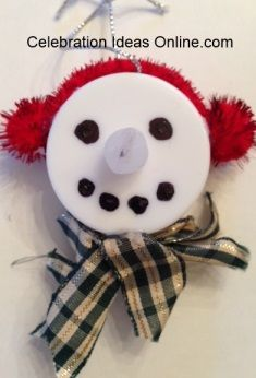 Easy Christmas ornament craft .. Make Frosty using a tealight