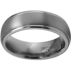 STI by Spectore Titanium Striped Wedding Band ($175) ❤ liked on Polyvore featuring men's fashion, men's jewelry, men's rings, grey, mens titanium wedding rings, mens diamond band wedding ring, mens titanium rings and mens wedding rings