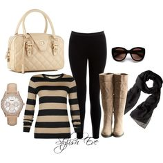 Beige Casual Outfit !