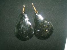 Handmade  Black Clay Bead  earring by SibrinaCreations on Etsy, $6.00