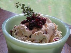 Cranberry Delight Cream Cheese Spread plus other appetizers:  Food For A Hungry Soul