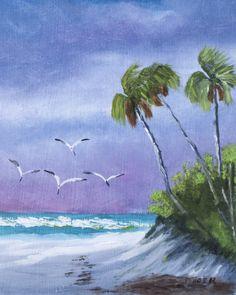 One of my paintings - I love the beach scene