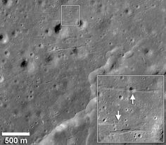 the Lunar Reconnaissance Orbiter (LRO) has revealed.. graben that are free of cratering or other marring, which indicates relatively recent seismic activity on the Moon without corresponding meteor strikes or movement of tectonic plates. ..there was observation of eruptions with a reddish glow precisely identical and repeated, moving the Moon closer to Earth. (Nikolay Kozyrev, 1958, Lowell Observatory, 1963). Does this look like thruster firing to anyone?