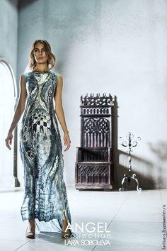 Платья ручной работы. Ярмарка Мастеров - ручная работа тонкое валяное платье Ангел. Handmade.
