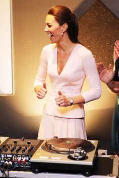 Kate Middleton playing DJ for the day!