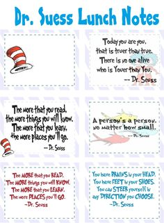 dr.suess lunch notes