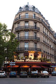 Triadou Haussmann on Boulevard Haussmann and Rue de Rome, Paris, France