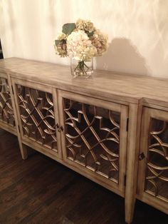 Great Mirrored Buffet Table For Dining Room