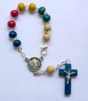 Rosary Rings are also known as the Single decade rosaries or pocket rosary, they are small enough to be easily carried around making a perfect gift to give to a soldier. Rosaries, Beaded Bracelets, Pocket, Rings, Jewelry, Jewlery, Bijoux, Pearl Bracelets, Jewerly