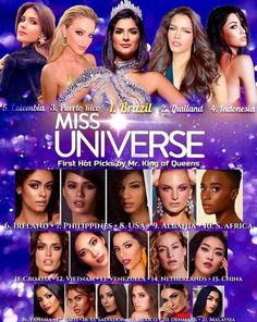 Resultado de imagem para miss universe 2019 hot picks