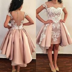 Unique Prom Dresses, Blush pink homecoming dress, Hi-low homecoming dresses,Teenager homecoming dresses, There are long prom gowns and knee-length 2020 prom dresses in this collection that create an elegant and glamorous look Unique Prom Dresses, Popular Dresses, Homecoming Dresses, Girls Dresses, Bridesmaid Dresses, Formal Dresses, Prom Gowns, Latest African Fashion Dresses, African Print Fashion