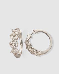 1b656784d888 Una combinación que nunca falla.  Diamantes  Earrings  OroBlanco  Oro   Jewelry