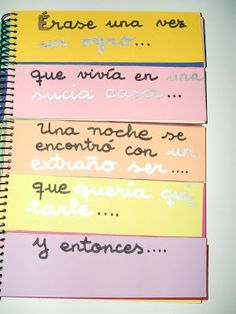 For story prompts for They create sections, I bind. They can use as inspiration Spanish Teacher, Teaching Spanish, Teaching English, Writing Activities, Classroom Activities, Teaching Resources, Bilingual Classroom, Spanish Classroom, Writer Workshop