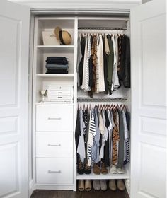Small Reach In Closet Organization Ideas