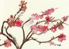 Fine Art Giclee Print  Pink Blossoms Branch 5x7 by GrowCreative, $15.00