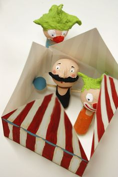 Petite Circus in a box...make finger puppets.