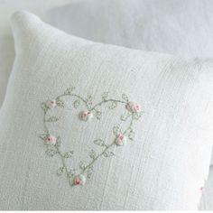 Embroidered heart lavender bag