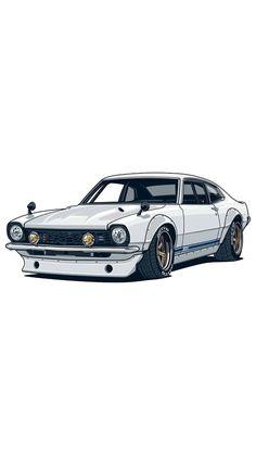 Car Iphone Wallpaper, Jdm Wallpaper, Car Wallpapers, Cool Car Drawings, Street Racing Cars, Ford Maverick, Drifting Cars, Car Illustration, Fancy Cars