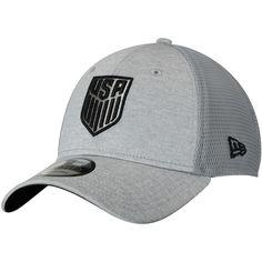 2f52b430cbf Men s US Soccer New Era Gray Tech Trim Adjustable Meshback Hat