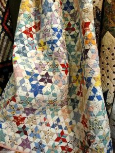 gorgeous scrappy star quilt