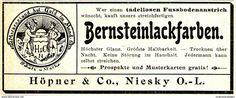 Original-Werbung/ Anzeige 1900 - BERNSTEINLACKFARBEN / HÖPNER - NIESKY - Ca. 100 X 40 Mm - Werbung
