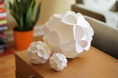 Thinking about Christmas already... Paper Ornaments/Spheres