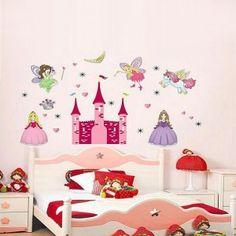 Disney Princess Snow White Castle Nursery Mural Wall Sticker.