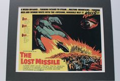 THE LOST MISSILE 1958 - 1950s Film Poster Print B-Movie Movies Movie Poster Science Fiction Film Outer Space Fantasy Lobby Cards Sci Fi Card by VintagePrintageArt on Etsy