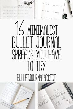 Bullet Journal Addict - 16 Minimalist Bullet Journal Spreads Minimalist Bullet Journal Spreads - Minimalist Bullet Journal Layouts - Monthly and Weekly Spreads - 16 Minimalist Bullet Journal Spreads You Have To Try