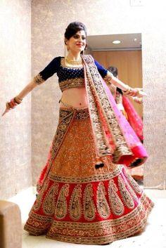 Indian Wedding Lehenga Designs with Tilla Work 2016 (3)