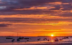 A beautiful sunrise over the River Thames at Gravesend, Kent