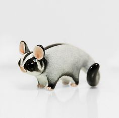 RESERVED for Jessica Sugar Glider Figurine OOAK Handmade Polymer Clay Animal Totem