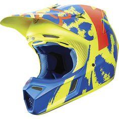 Dirt Bike Fox Racing 2015 V3 Helmet - Marz | MotoSport