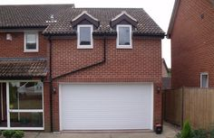 What were they thinking? One of the worst examples of a garage extension that I've seen...