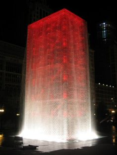 The Crown Fountain, Millenium Park, Chicago, USA