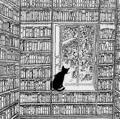 by Edward Gorey Art And Illustration, I Love Cats, Crazy Cats, Inspiration Art, Cat Art, Cats And Kittens, Illustrators, Book Art, Sketches