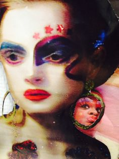 Close up of my theatrical collage
