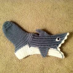 Crocheted Infant Baby Shark Socks **MADE TO ORDER