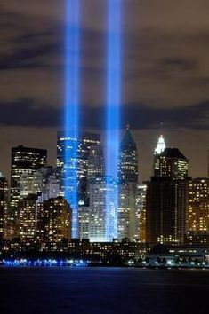 World Trade Center Tribute Lights Wtc Art Poster Standup 4inx6in