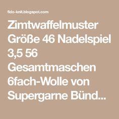 Zimtwaffelmuster Größe 46 Nadelspiel 3,5 56 Gesamtmaschen 6fach-Wolle von Supergarne Bündchen: 15 Runden 2 re/2 li Mus...