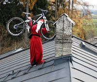 Just drop it down Santa!